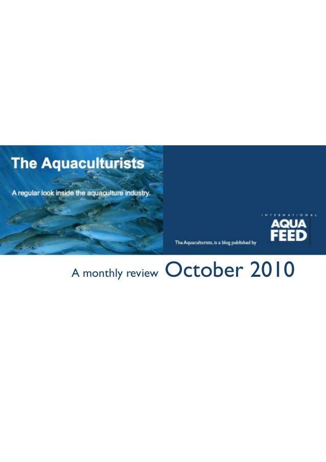 Aquaculturist update - October 2010