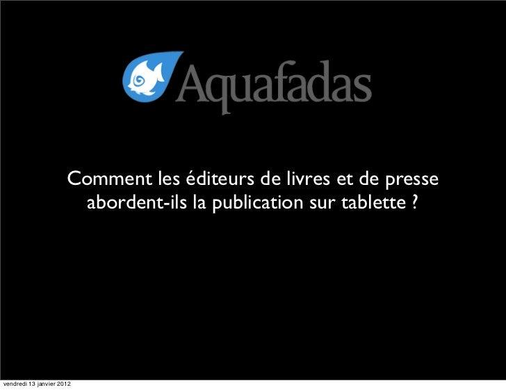 Aquafadas la cantine_janv_2012
