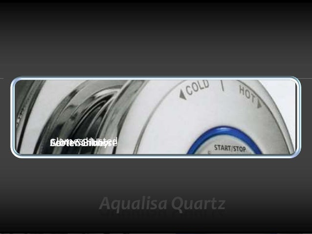 aqualisa quartz presentation Aqualisa quartz group case presentation problem the plumbing system in the united kingdom is very inconsistent due to the varying age of the buildings making shower temperature and pressure challenging to control.