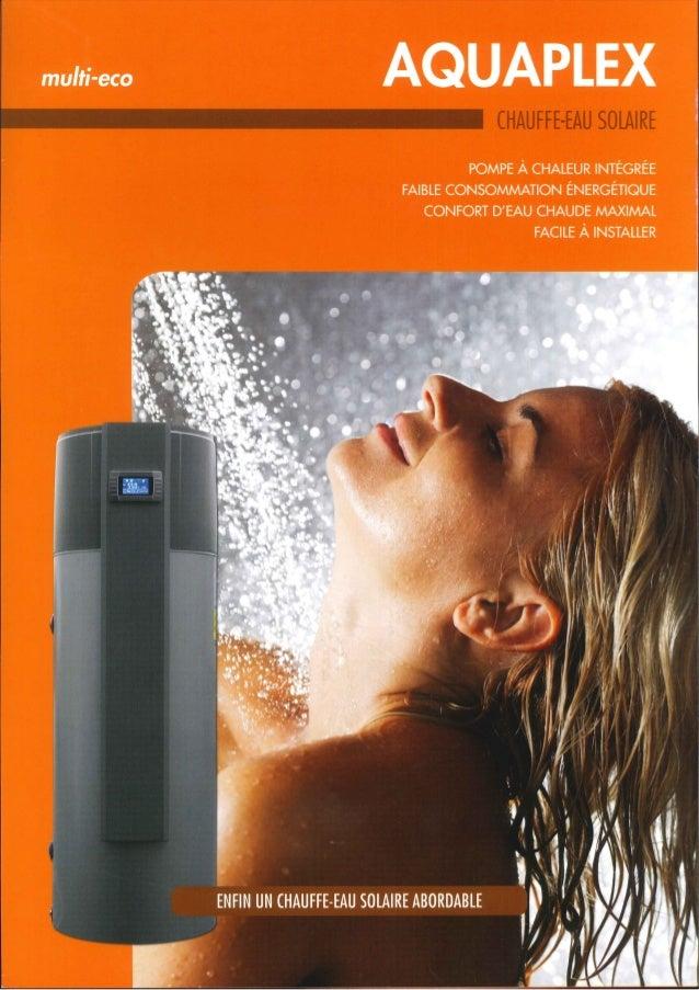 Aquaplex + panneaux thermiques