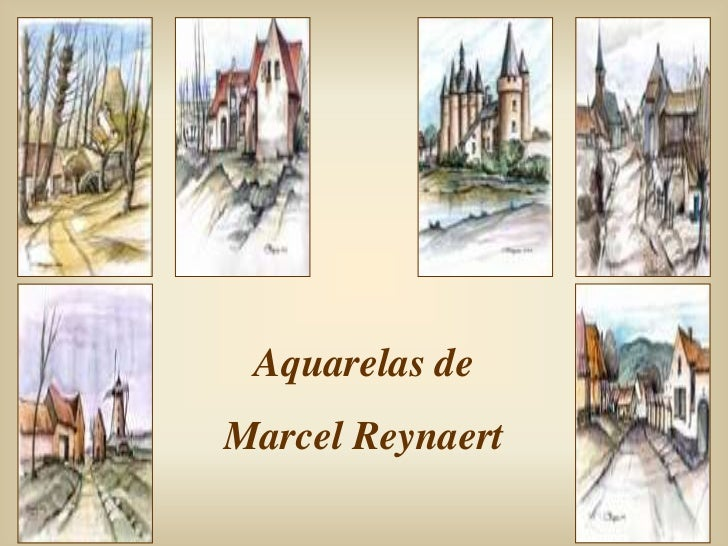 Aquarelas deMarcel Reynaert