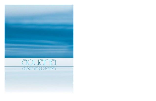 Aquaria Restaurant: Opening Soon