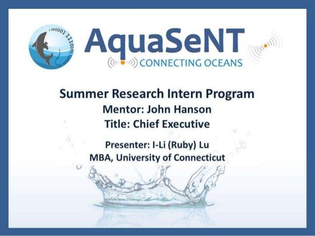 Aquasent final presentation