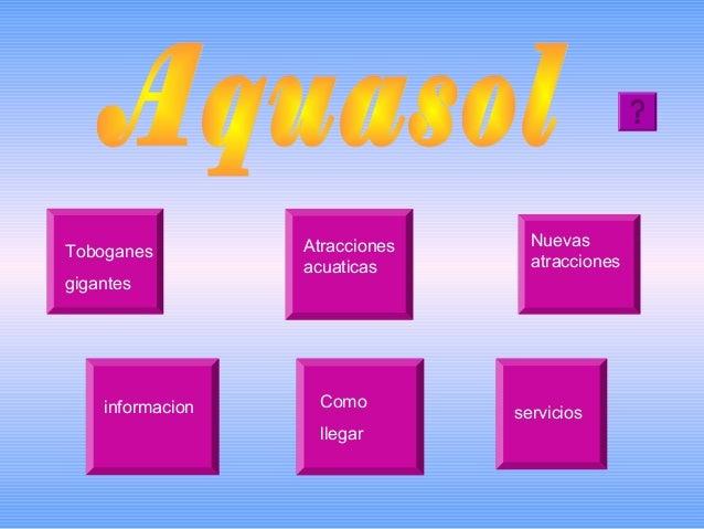 Toboganes gigantes  informacion  Atracciones acuaticas  Como llegar  Nuevas atracciones  servicios
