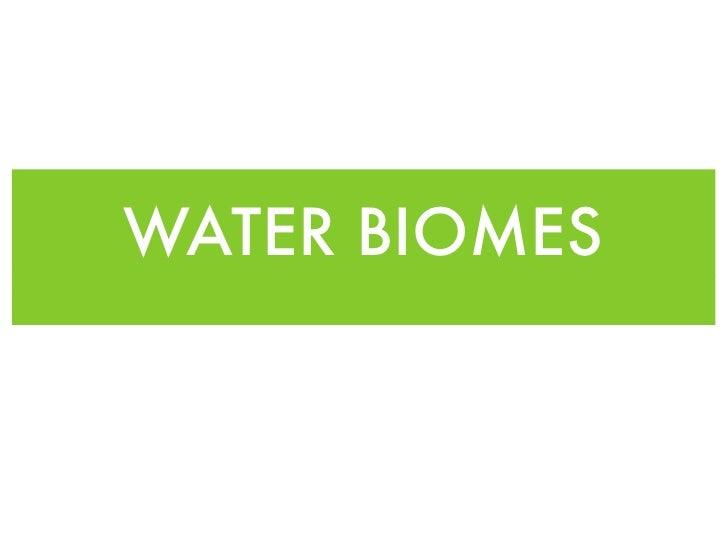WATER BIOMES