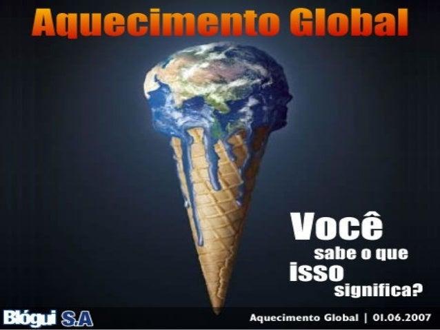 • INTRODUÇÃO • AQUECIMENTO GLOBAL • CAUSAS DO AQUECIMENTO GLOBAL • CONSEGUÊNCIAS DO AQUECIMENTO GLOBAL • MEDIDAS DO AQUECI...