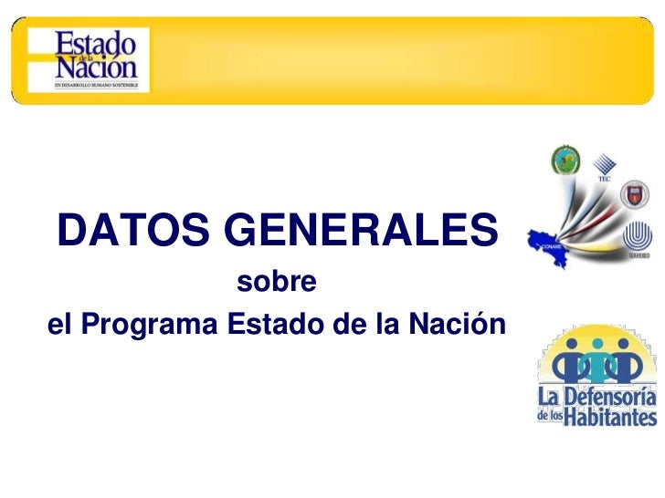 Datos generales del Programa Estado de la Nación