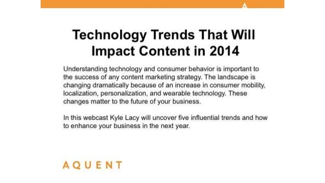 Aquent/AMA Webcast: Technology Trends That Will Impact Content in 2014