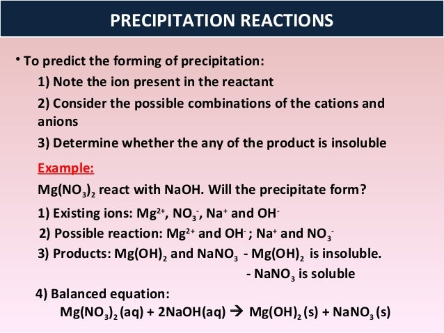 which anions generally form precipitates what are exception