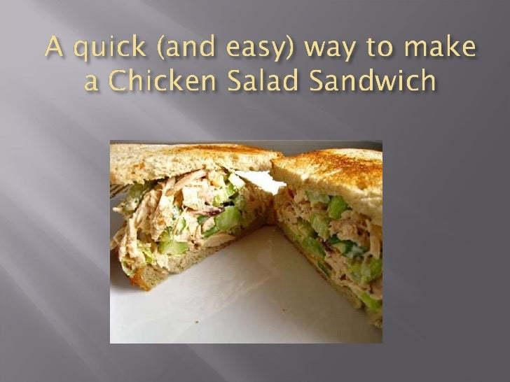 A Quick (And Easy) Way To Make Chicken Salad