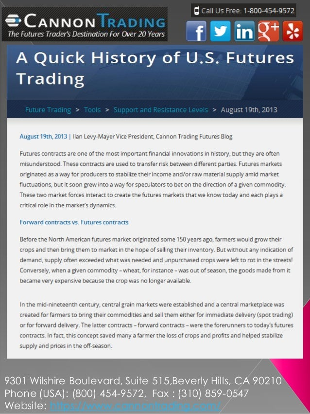 A Quick History of U.S. Futures Trading