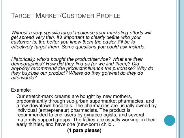 target market paper essay example The target does not buy her jewelry at major department stores, rather she seeks out unique, one of a kind pieces that show her uniqueness, individuality.