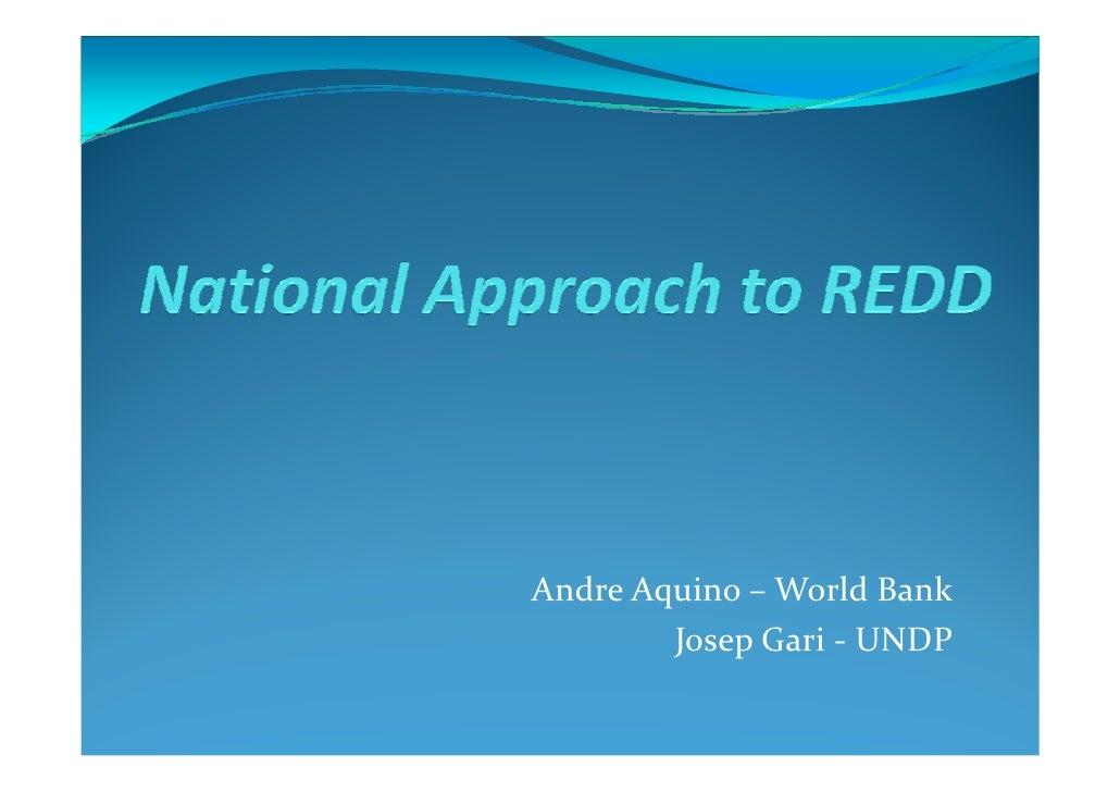 Andre Aquino – World Bank         Josep Gari - UNDP