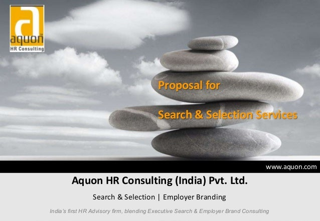 Proposal for                                          Search & Selection Services                                         ...