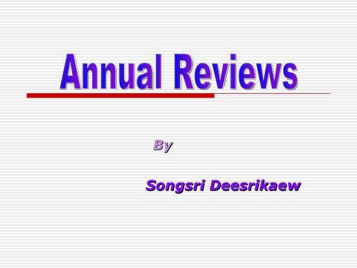 By Songsri Deesrikaew Annual Reviews