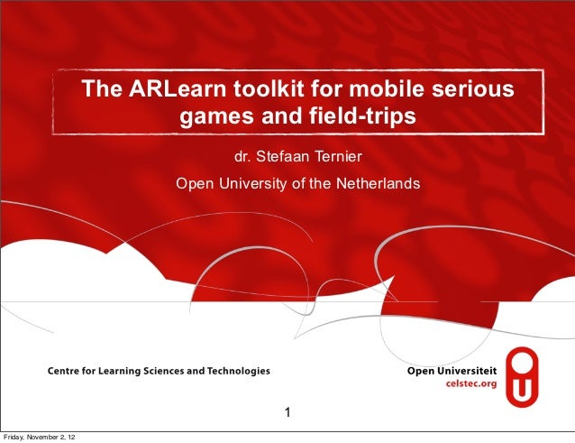 The ARLearn toolkit for mobile serious                                games and field-trips                               ...