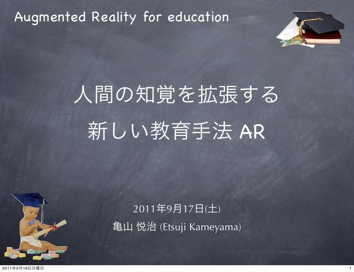 Augmented Reality for education                                                 AR                        2011    9   17  ...