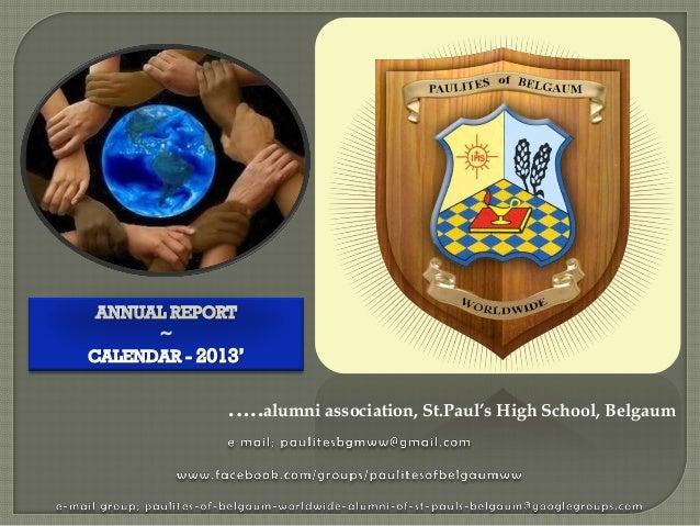 .….alumni association, St.Paul's High School, Belgaum