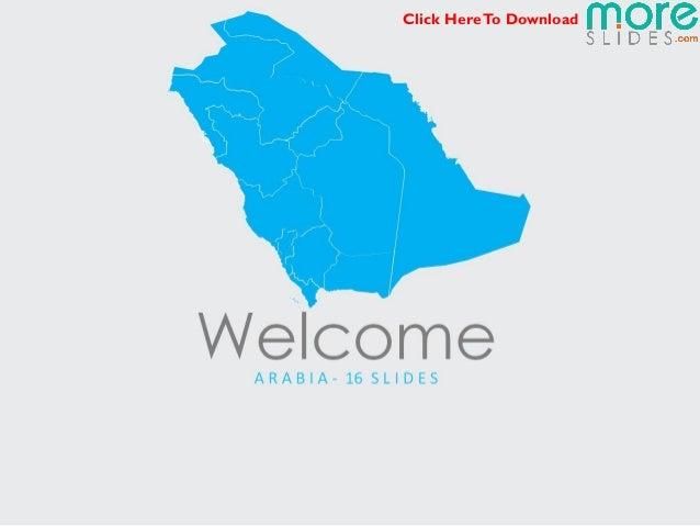 Arabia Map | Moreslides.com