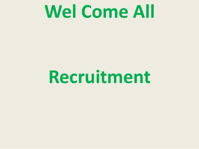 Wel Come All Recruitment