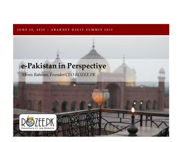 E-Pakistan In Perspective