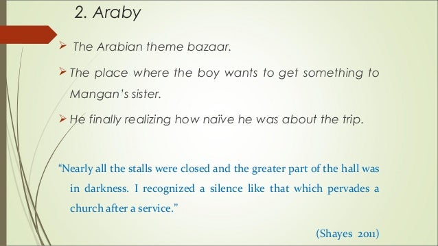 araby by james joyce theme essay