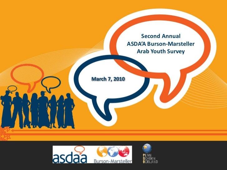 Second Annual                 ASDA'A Burson-Marsteller                    Arab Youth Survey    March 7, 2010