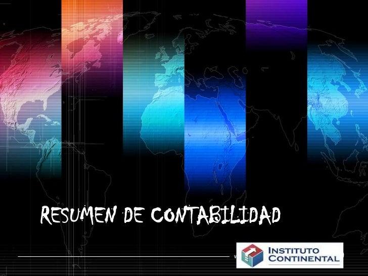 RESUMEN DE CONTABILIDAD<br />