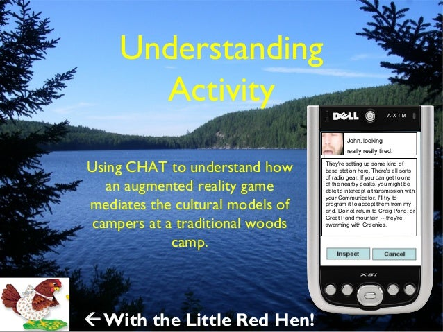 Understanding Activity (with The Little Red Hen)