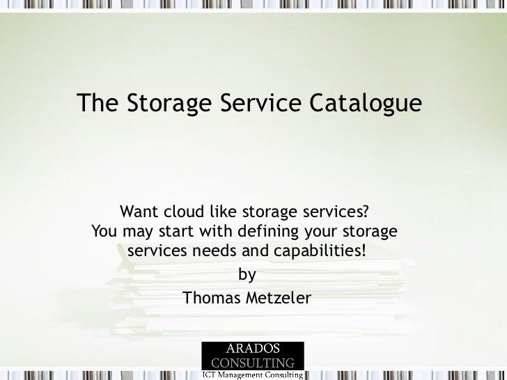 Arados  Consulting Cloud Service: Service Catalogue