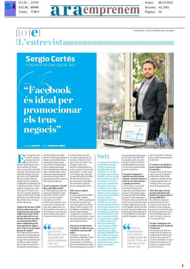 Facebook és ideal per promocionar els teus negocis