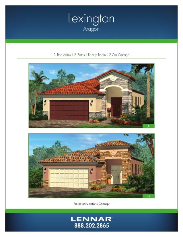 Aragon By Lennar Homes Estate Home Floorplans