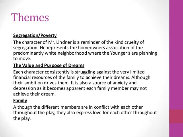 thesis statement on dreams a raisin in the sun