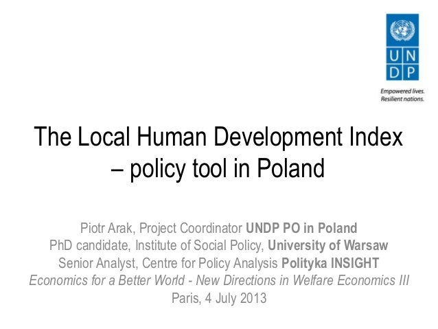 The Local Human Development Index - policy tool in Poland