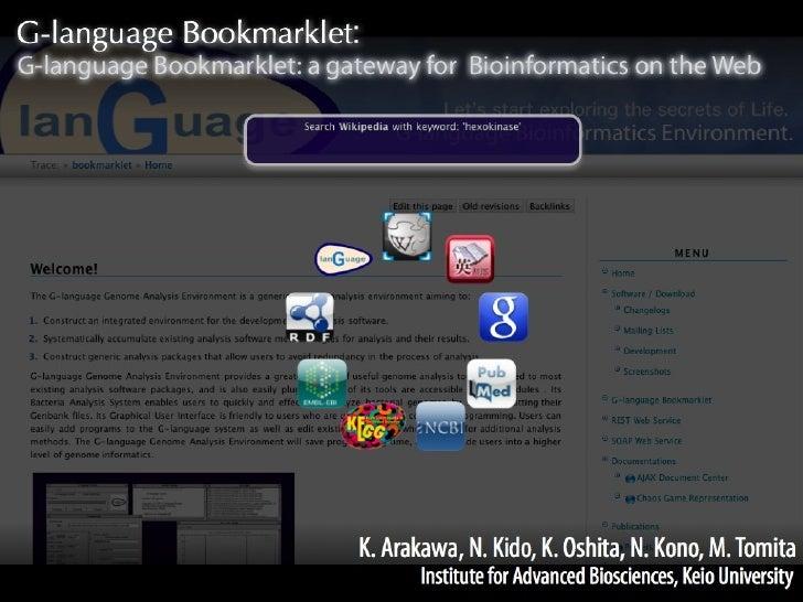 Arakawa bosc2010 g-languate_bookmarklet