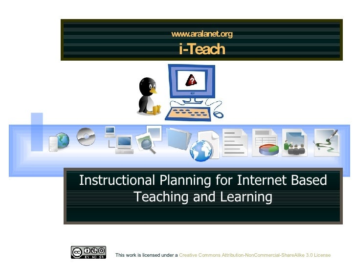 www.aralanet.org i-Teach Instructional Planning for Internet Based Teaching and Learning