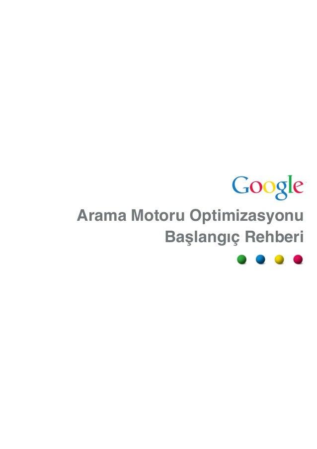 Arama motoru seo optimizasyon rehberi