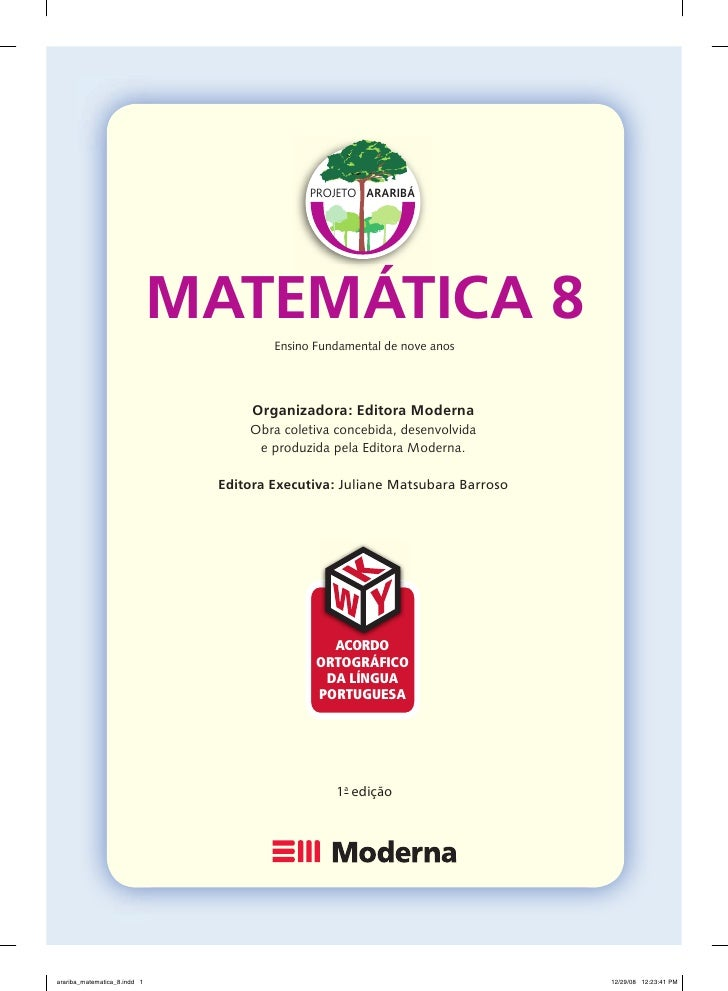 PROJETO ARARIBÁ                                   MATEMÁTICA 8                                        Ensino Fundamental d...