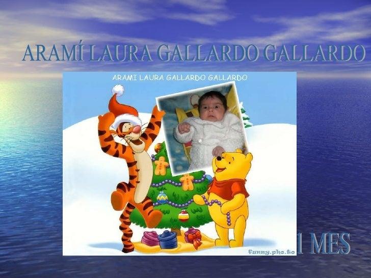 ARAMÍ LAURA GALLARDO GALLARDO 1 MES