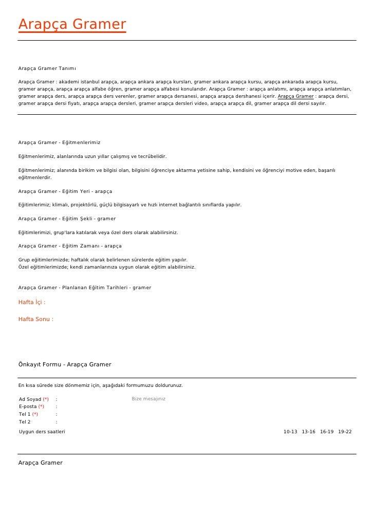 Arapça GramerArapça Gramer TanımıArapça Gramer : akademi istanbul arapça, arapça ankara arapça kursları, gramer ankara ara...