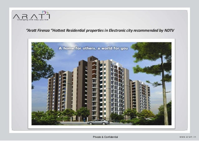 Aratt Firenza Hottest Residential property in electronic city, Bangalore recommended by NDTV