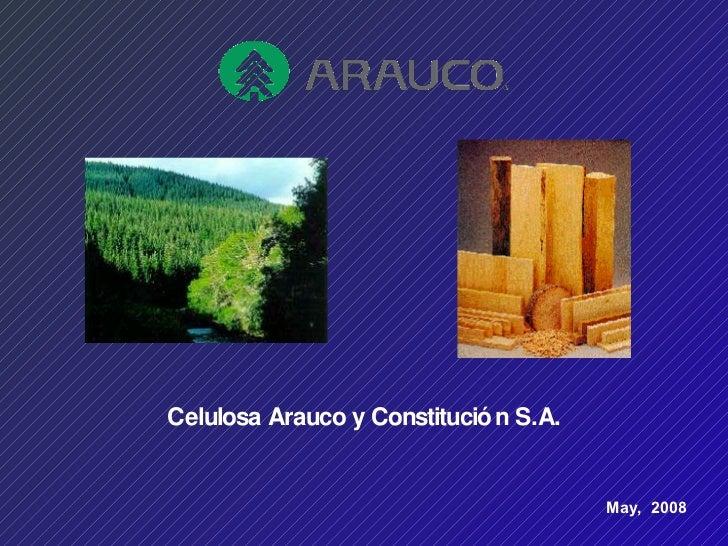 Arauco Presentation For Wssu