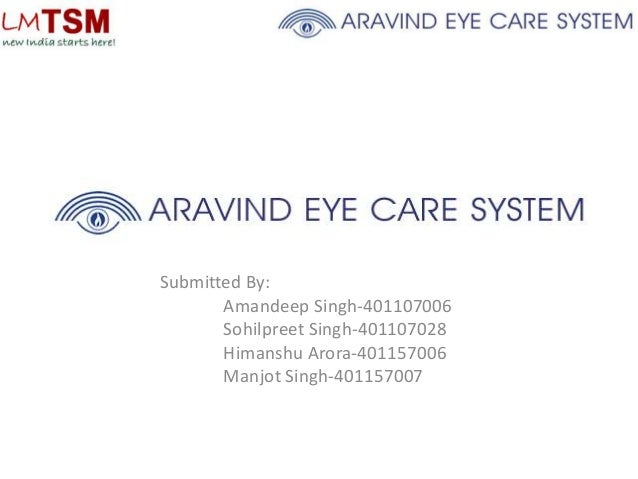 aravind eye hospital case study harvard