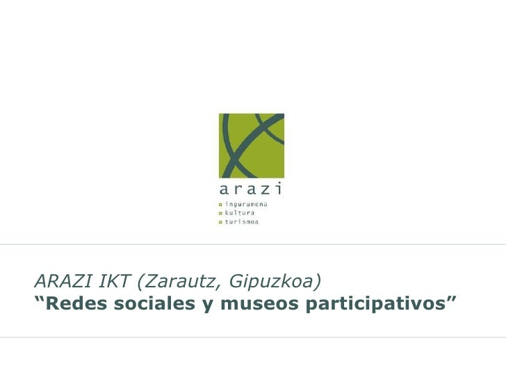 Redes sociales y museos participativos