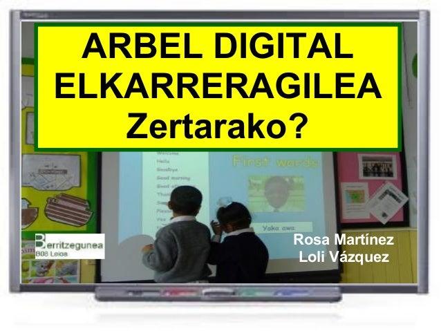 Arbel Digital Elkarreragilearen erabilpen orokorrak 1 (ADE-PDI)