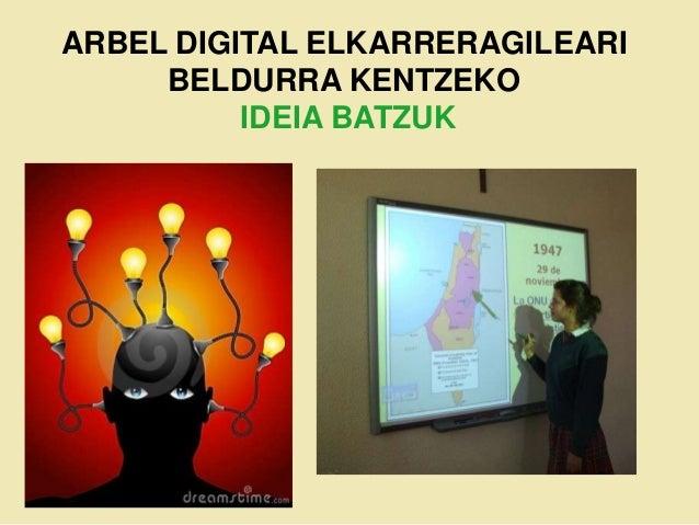ARBEL DIGITAL ELKARRERAGILEARI     BELDURRA KENTZEKO          IDEIA BATZUK