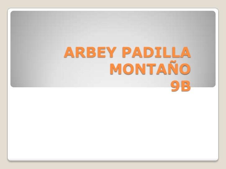 ARBEY PADILLA    MONTAÑO           9B
