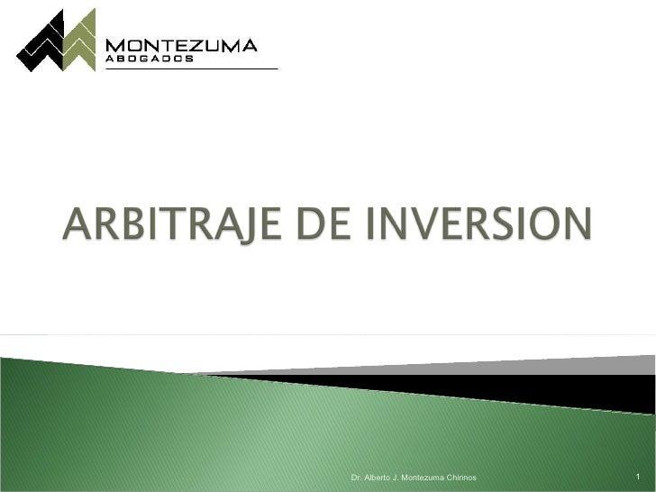 Arbitraje de inversion  24 07-12