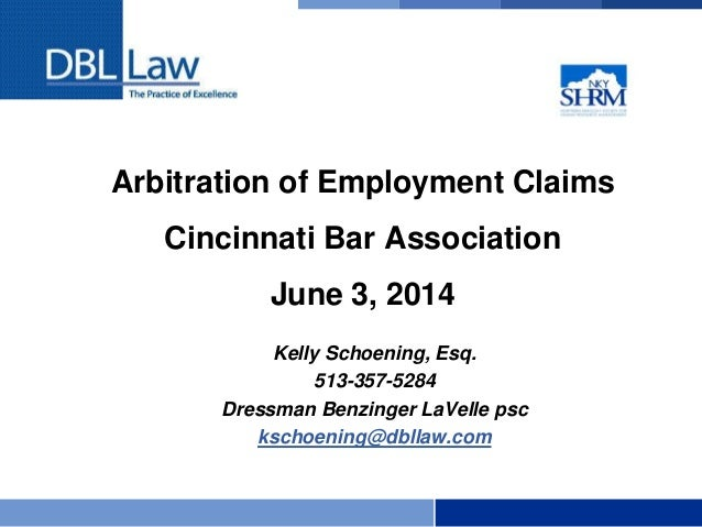 Arbitration of Employment Claims: The Basics