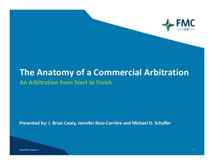 The Anatomy of a Commercial Arbitration - An Arbitration from Start to Finish